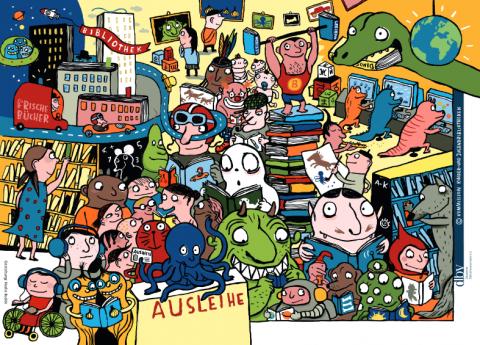 Plakat Abenteur Kinderbibliothek