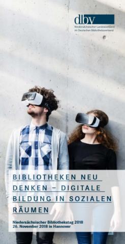 Cover des Programmflyers des Niedersächsischen Bibliothekstages