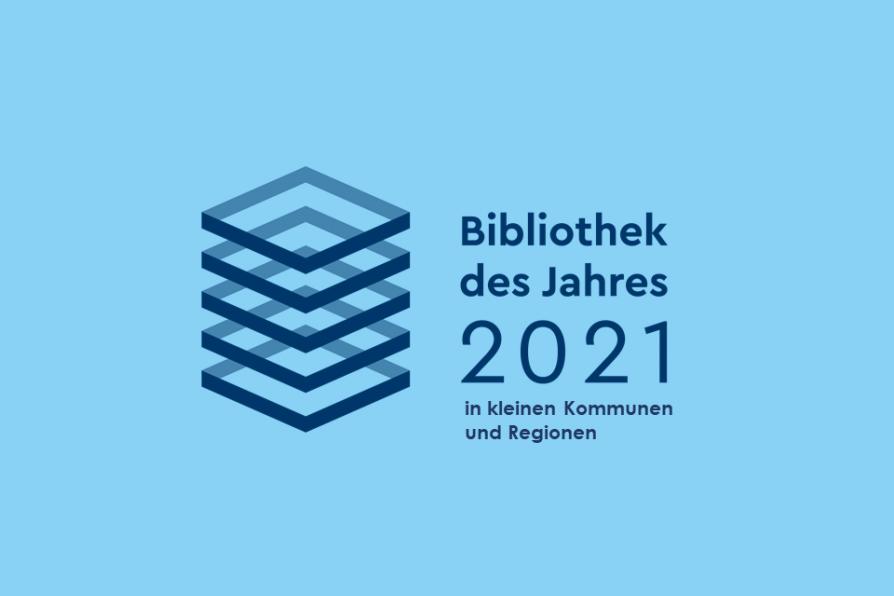 Logo der Bibliothek des Jahres in kleinen Kommunen und Regionen 2021