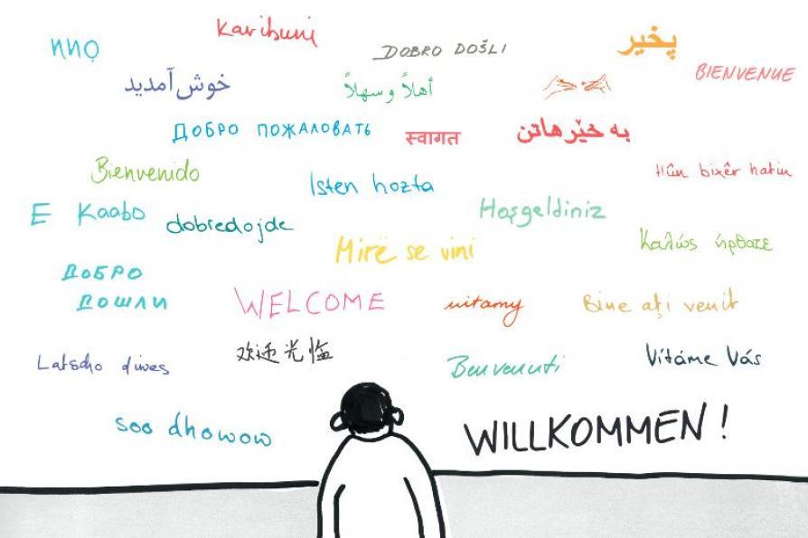 Bild Webinar Willkommenskultur in Deutschland - Bibliotheksangebote für Geflüchtete und Zuwanderer