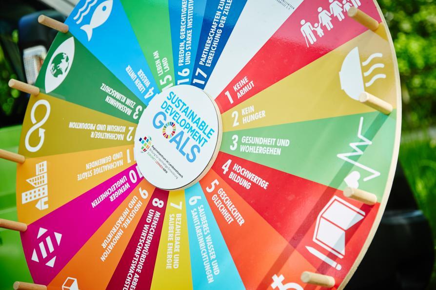 SDG Rad auf dem Arnsberger Nachhaltigkeitsfestival Schlabberkappes